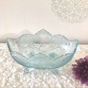 1940s Footed Depression Glass Bowl